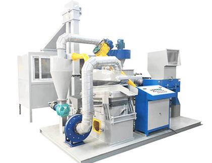 Máquina de separación de plástico de aluminio