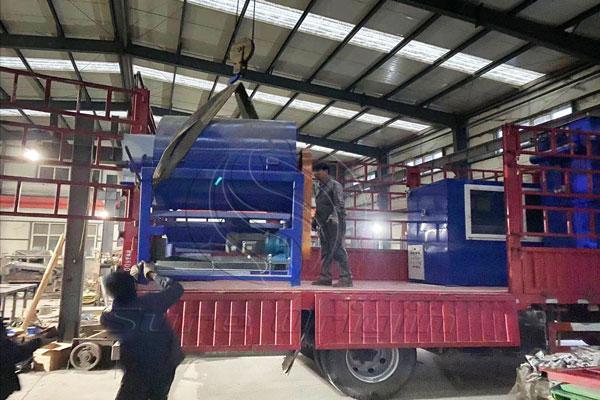 Máquina de reciclaje de placas de PCB de desecho entregada a India
